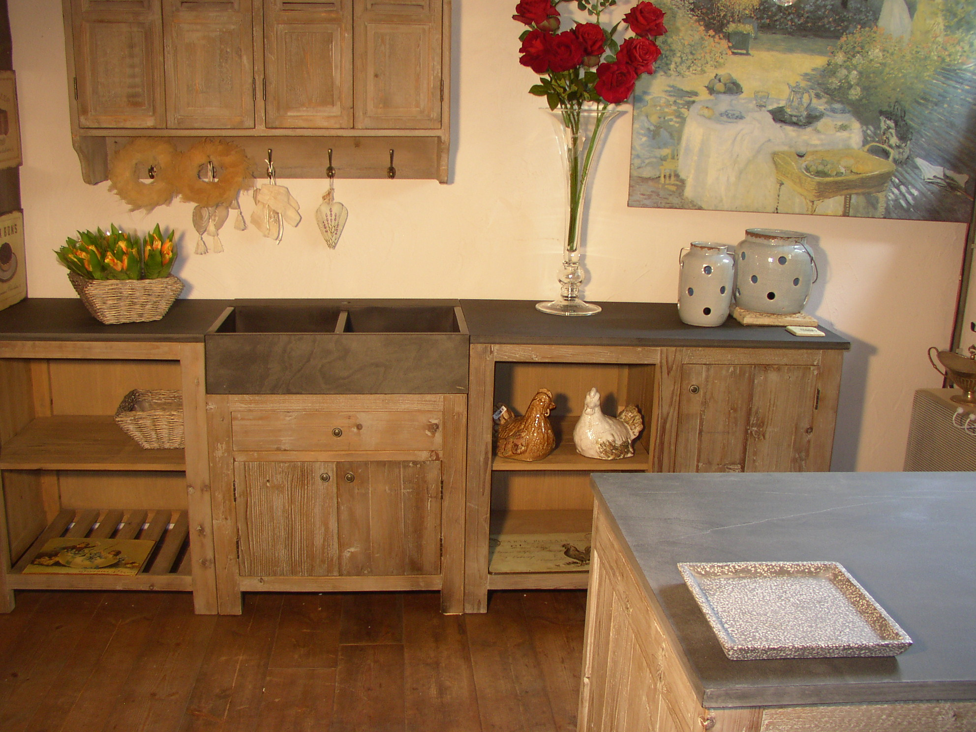 Keuken Met Natuursteen : Spoelbak Keuken Natuursteen : poeder of van Graniet Natuursteen